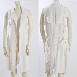 Trouve White vest Jacket